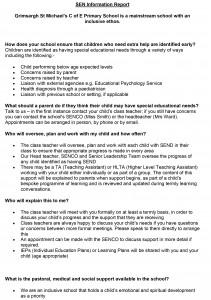Microsoft Word - SEN Information Report draft 2015 Easter HS